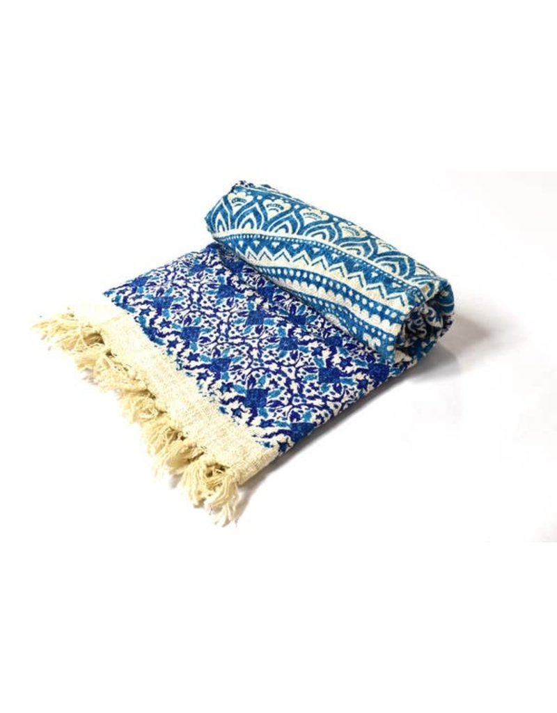 Mira Fair Trade Blue Mandala Throw