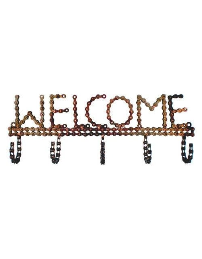 Mira Fair Trade Bike Chain Welcome Hook
