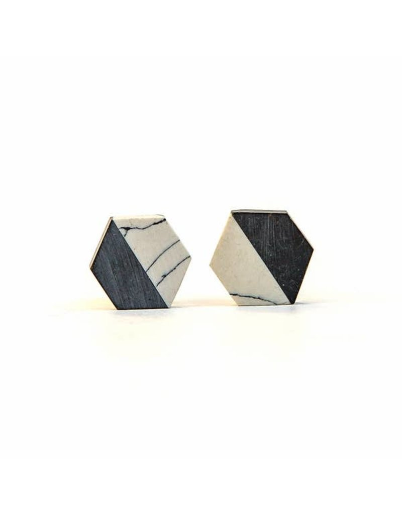 Fair Anita Resin and Clay Geometric Earrings