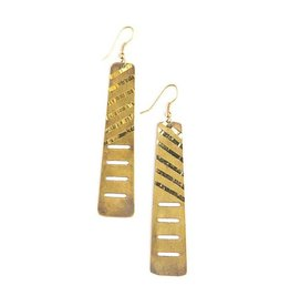 Fair Anita Brass Skyscraper Earrings