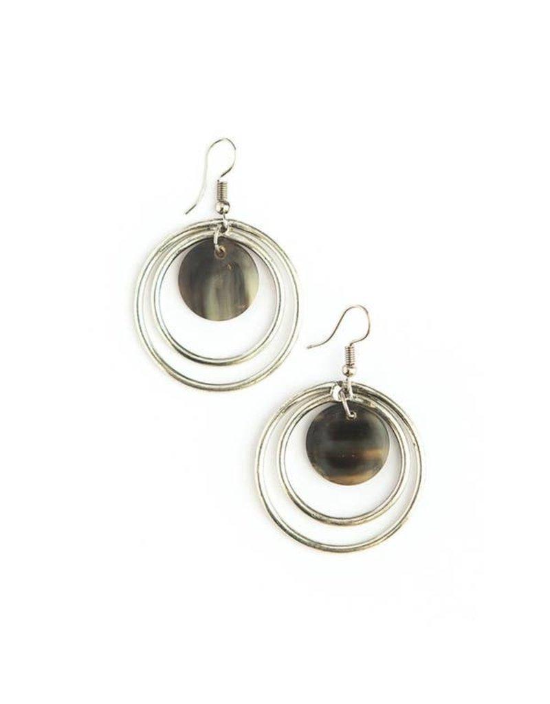 Fair Anita Encircled Horn Earrings