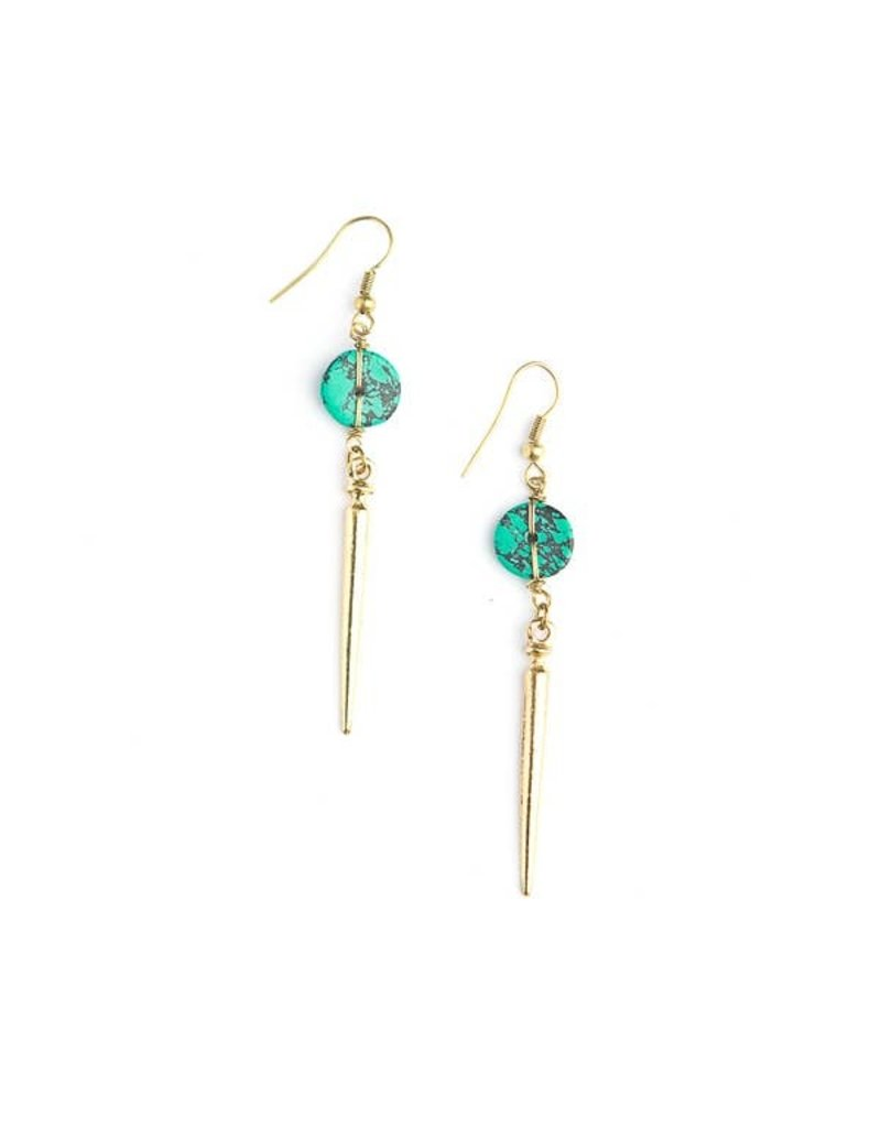 Fair Anita Turquoise Charm Earrings