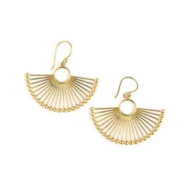 Fair Anita Brass Palm Leaf Earrings