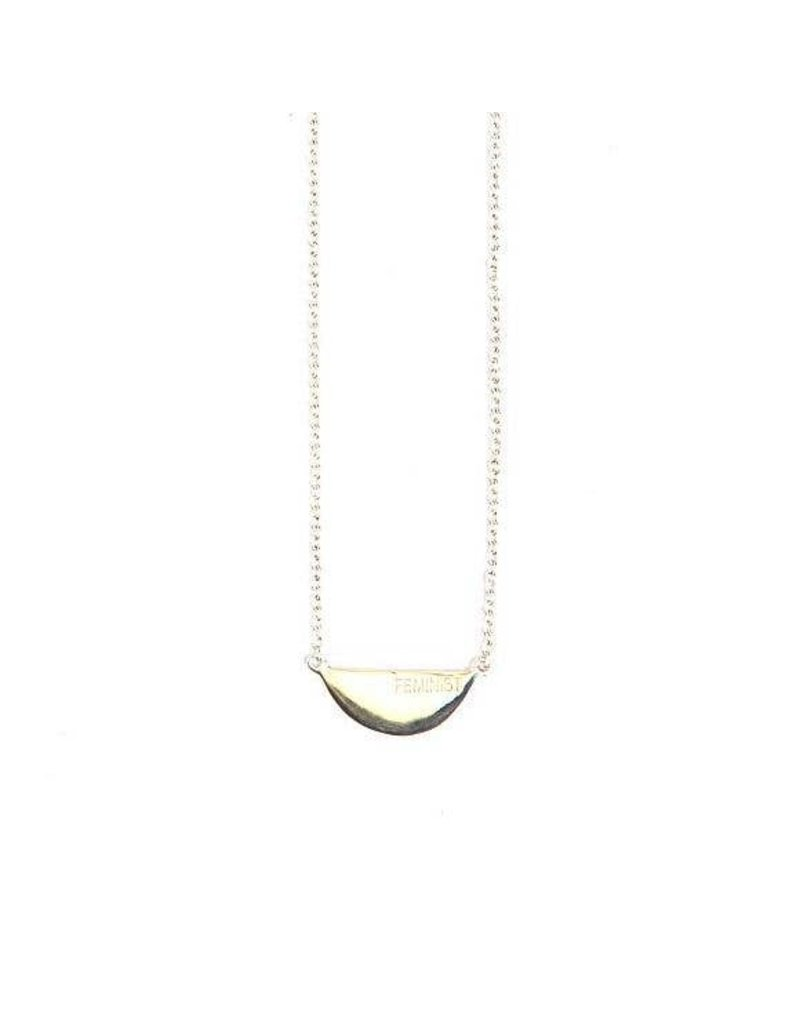 Fair Anita Silver Feminist Necklace