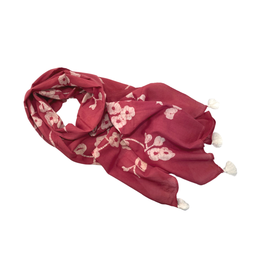 Sasha Association for Crafts Producers Pink Cherry Blossom Scarf
