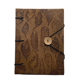 Craft Resource Center Leather Leaf Journal