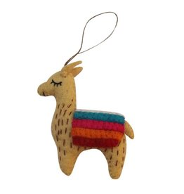 Global Groove Felted Llama Ornament