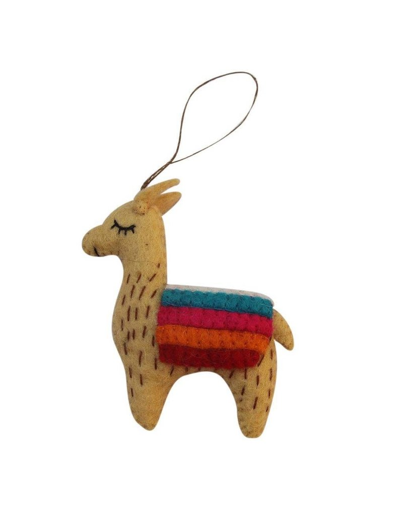Global Groove Felted Llama Ornament