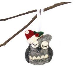Global Groove Sleeping Owl Ornament