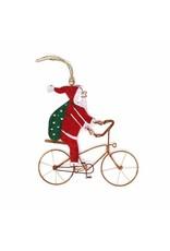 Creative Alternatives Bicycle Santa Ornament