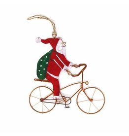 Creative Alternatives Bicycle Santa Ornament