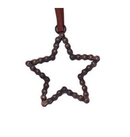 Mira Fair Trade Bike Chain Star Ornament
