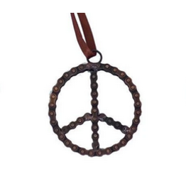 Mira Fair Trade Bike Chain Peace Ornament
