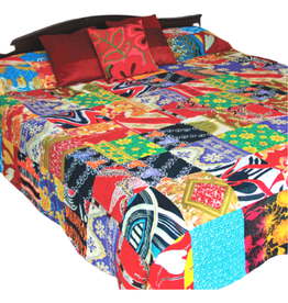 Prokritee Recycled Sari King Duvet Cover