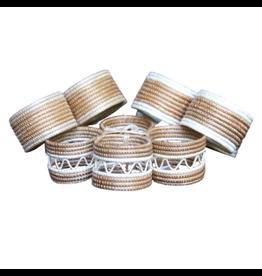 Azizi Life Natural Woven Napkin Rings