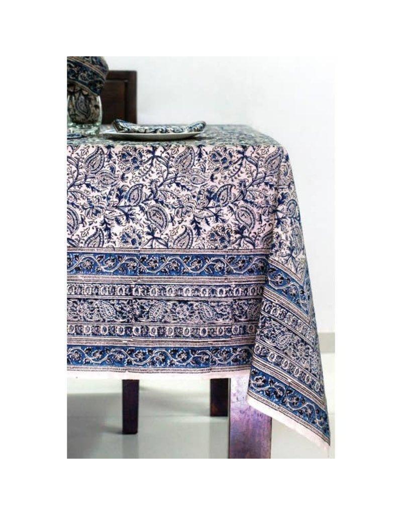 Sevya Handmade Blue Kalamkari Tablecloth