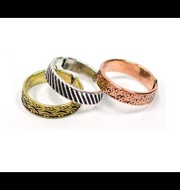 Matr Boomie Etched Metal Rings