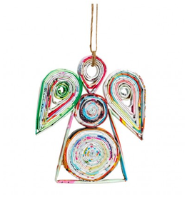 Tiger Lily Recycled Paper Angel Ornament