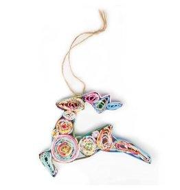 Tiger Lily Paper Reindeer Ornament