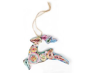 Acacia Creations Paper Reindeer Ornament