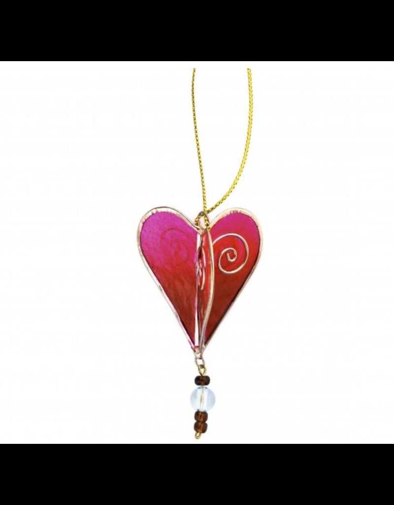Acacia Creations Capiz Shell Heart Ornament