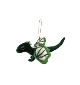 The Winding Road Felted Dragon Ornament