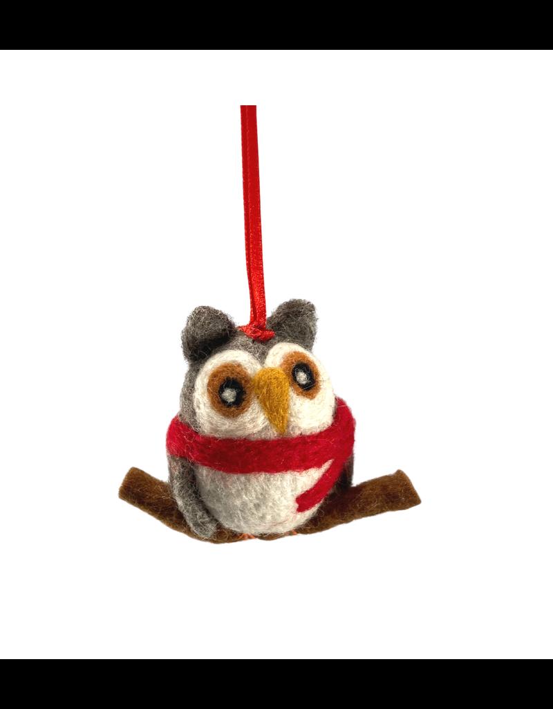 Laundromat Felt Woodland Owl Ornament