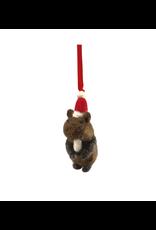 Laundromat Felt Woodland Beaver Ornament