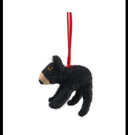 Laundromat Felt Woodland Bear Ornament