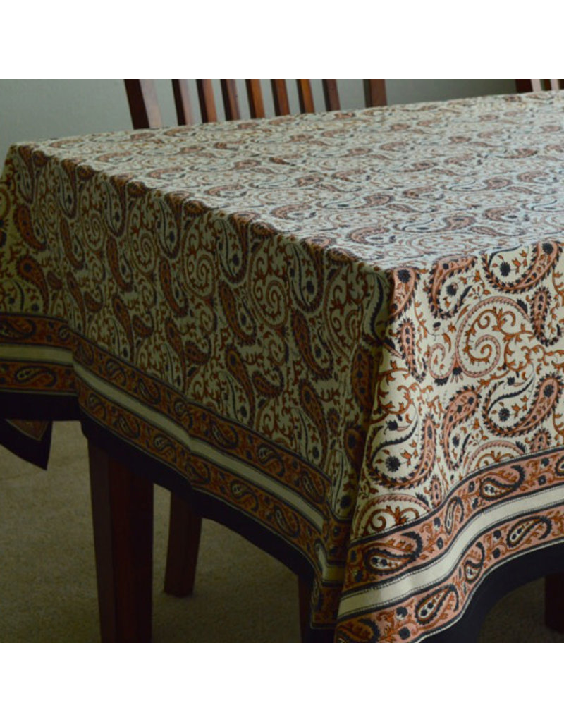 Jubilee Traders Chai Paisley Square Tablecloth