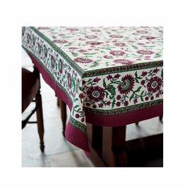 Living Imprints Crimson Aster Square Tablecloth