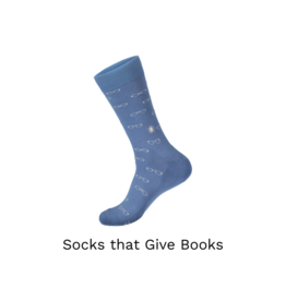 Conscious Step Socks that Give Books