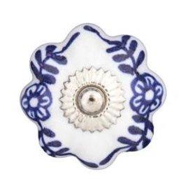 Mela Artisans Blue Daisy Pull Knob