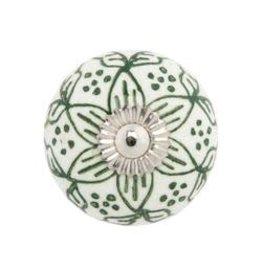 Mela Artisans Green Garden Ceramic Pull Knob