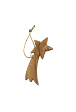 HolyLand Olivewood Curved Shooting Star Ornament