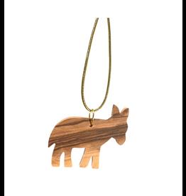HolyLand Olivewood Donkey Ornament