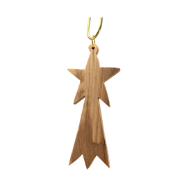 HolyLand Olivewood Straight Shooting Star Ornament