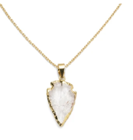 Matr Boomie Quartz Arrowhead Necklace