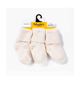 Maggie's Organics White Organic Cotton Toddler Socks