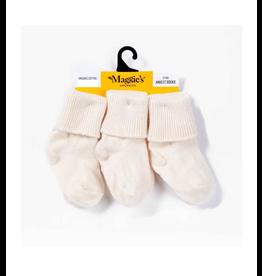 Maggie's Organics White Organic Cotton Baby Socks