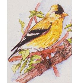 Mr. Ellie Pooh Goldfinch Greeting Card