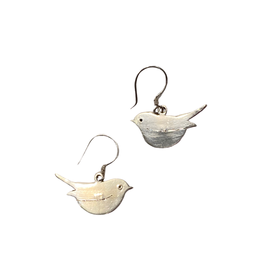 Ganesh Himal Silver Bird Earrings