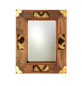 Swahili Modern Kuba Wooden Mirror