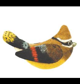 dZi Inc. Cedar Waxwing Bird Ornament