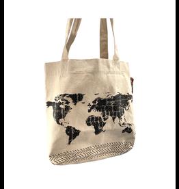 Papillon World Map Tote Bag
