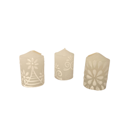 Kapula White Lace Votive Candles (6-Pack)