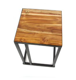 Swahili Modern Teak Wisdom Side Table