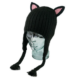 Andes Gifts Black Cat Hat