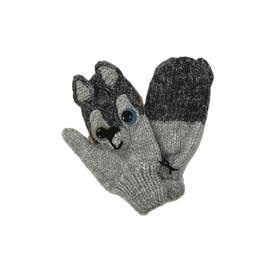 Andes Gifts Child Wolf Mittens