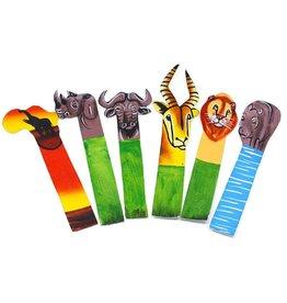 Jedando African Handicrafts Animal Bookmark (Assorted)